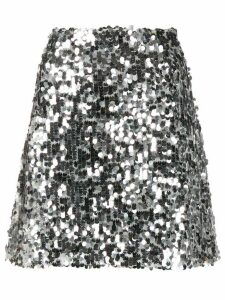 be blumarine A-line sequin skirt - Silver