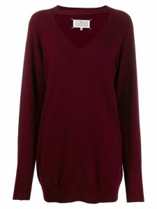 Maison Margiela knitted cut-out jumper - Red