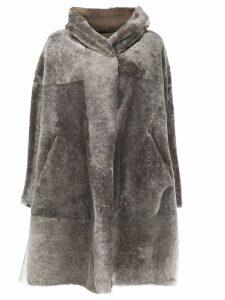 Sylvie Schimmel oversized shearling coat - NEUTRALS