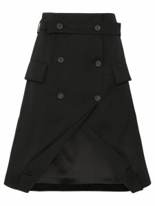 Delada double-breasted tuxedo skirt - Black