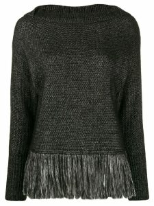 Blumarine fringed jumper - Black