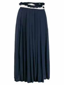 Golden Goose Hasu pleated skirt - Blue