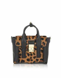3.1 Phillip Lim Designer Handbags, Leopard Pashli Mini Satchel