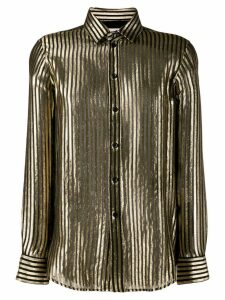 Saint Laurent metallic stripes shirt - Black