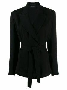 Erika Cavallini tie waist blazer - Black