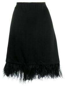 Semicouture A-line skirt with feathers - Black