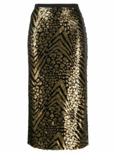 Antonio Marras sequinned pencil skirt - Black