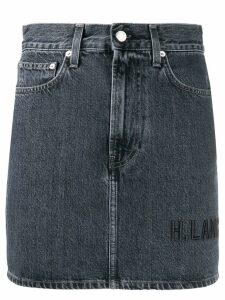 Helmut Lang Femme Hi mini denim skirt - Grey