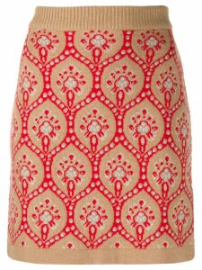 be blumarine knitted patterned skirt - Neutrals