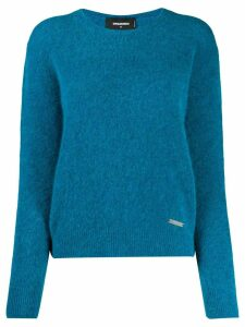 Dsquared2 ribbed neck sweater - Blue