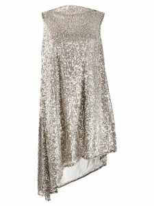 Halpern sequined asymmetric dress - Silver
