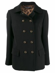 Dolce & Gabbana collared coat - Black