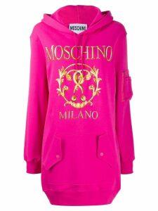 Moschino logo printed hoodie dress - Pink