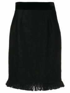 Dolce & Gabbana frayed hem skirt - Black