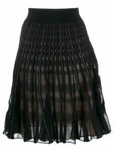 Alexander McQueen metallic A-line skirt - Black
