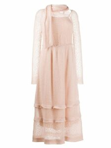 Red Valentino knitted frill dress - Neutrals
