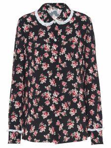 Miu Miu floral-print blouse - Black