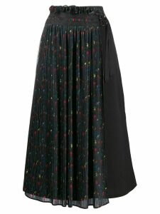 Neul pleated detail skirt - Black