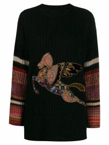 Etro pegasus sweater - Black