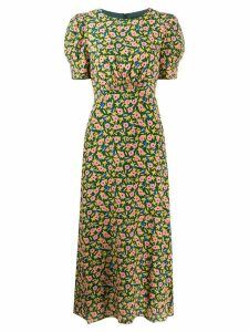 Saloni Bianca midi dress - Green