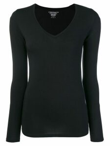 Majestic Filatures long-sleeve fitted top - Black