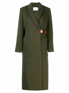 Neul wrap-front belt coat - Green