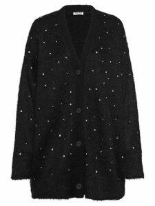Miu Miu embellished oversized cardigan - Black
