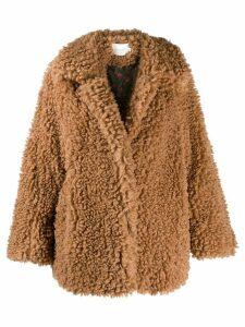 Neul oversized faux-shearling jacket - Neutrals