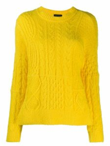 Roberto Collina cable knit jumper - Yellow