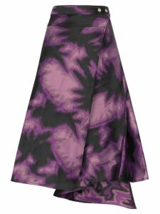 Marques'Almeida tie-dye wrap skirt - Purple