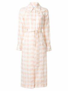 Alice Mccall check print trench coat - Pink