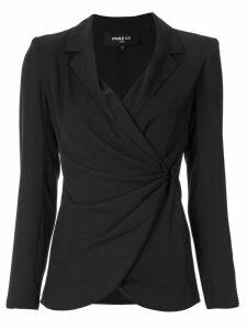 Paule Ka draped crepe blazer - Black