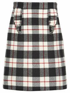 Miu Miu check A-line skirt - Black