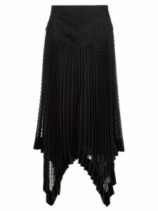 Zimmermann handkerchief hem midi skirt - Black