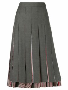 Thom Browne Super 120s Combo Pleat Skirt - Grey