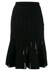 Alexander McQueen pleated midi skirt - Black