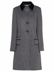 Miu Miu houndstooth check coat - Grey