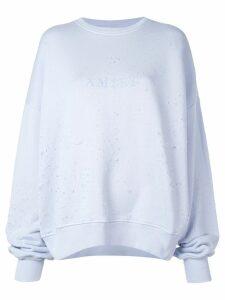 Amiri oversized distressed sweatshirt - Purple