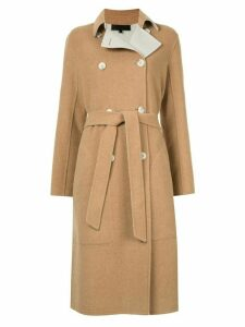 Rag & Bone belted double-breasted coat - Brown