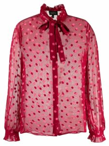 Saloni polka dot print blouse - Red