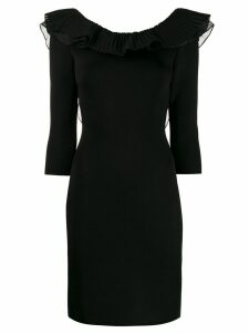 Antonino Valenti ruffle trimmed dress - Black