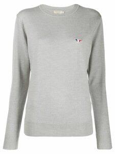 Maison Kitsuné fox patch sweater - Grey