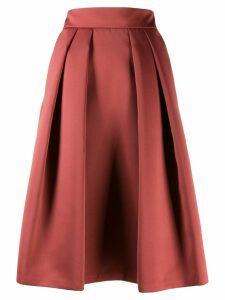 Giorgio Armani pleated midi skirt - Brown