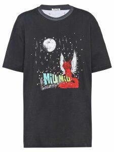 Miu Miu x Eri Wakiyama Fantasy print T-shirt - Black