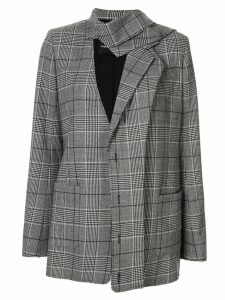 Proenza Schouler plaid deconstructed blazer - Grey