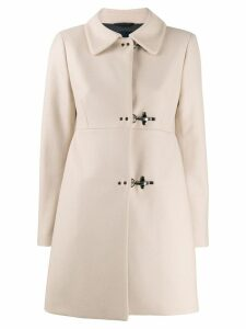 Fay fitted clasp coat - Neutrals