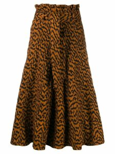 Ulla Johnson high-waisted animal print skirt - Brown