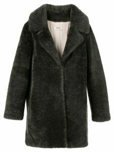 Yves Salomon Meteo Teddy single-breasted coat - Black