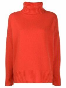 Elisabetta Franchi fine knit turtle neck - Orange