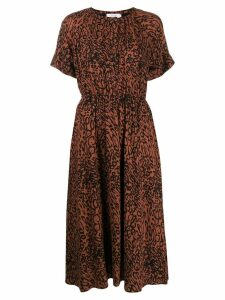 Calvin Klein leopard print dress - Brown